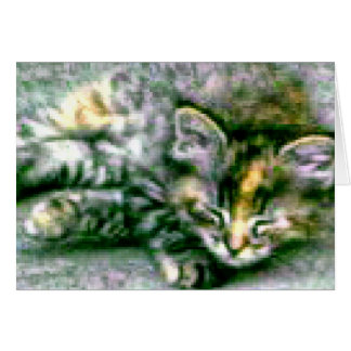 Pretty Sleeping Kitty Card