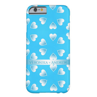 Pretty small blue hearts. Add your own text. Barely There iPhone 6 Case