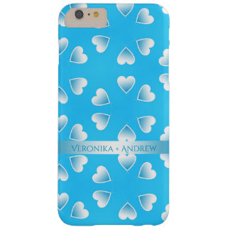 Pretty small blue hearts. Add your own text. Barely There iPhone 6 Plus Case