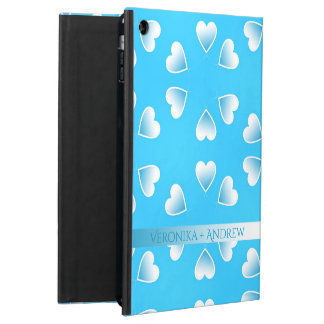 Pretty small blue hearts. Add your own text. Case For iPad Air