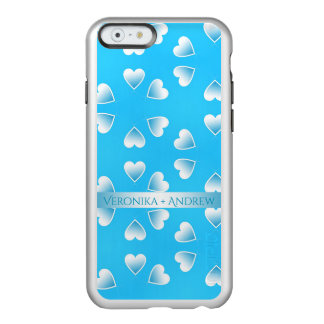 Pretty small blue hearts. Add your own text. Incipio Feather® Shine iPhone 6 Case