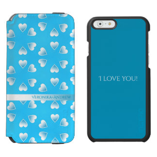 Pretty small blue hearts. Add your own text. Incipio Watson™ iPhone 6 Wallet Case