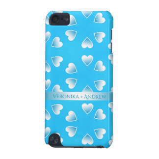 Pretty small blue hearts. Add your own text. iPod Touch (5th Generation) Case