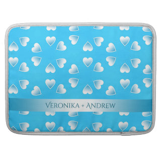 Pretty small blue hearts. Add your own text. Sleeve For MacBook Pro