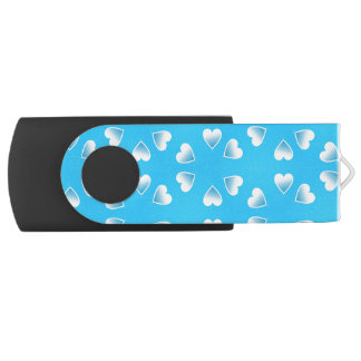 Pretty small blue hearts. Add your own text. USB Flash Drive