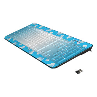 Pretty small blue hearts. Add your own text. Wireless Keyboard
