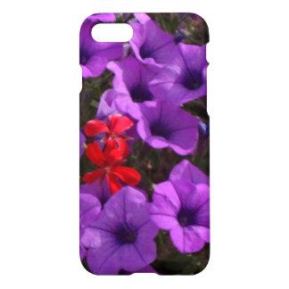 Pretty Soft-Focus Photo Purple Petunia Flowers iPhone 7 Case
