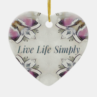 Pretty Soft Rose Colored Lifestyle Quote Ceramic Ornament