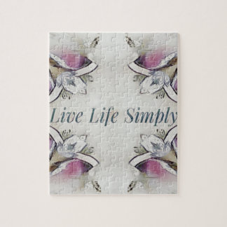 Pretty Soft Rose Colored Lifestyle Quote Jigsaw Puzzle