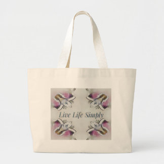 Pretty Soft Rose Colored Lifestyle Quote Large Tote Bag