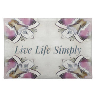 Pretty Soft Rose Colored Lifestyle Quote Placemat