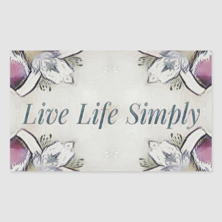 Pretty Soft Rose Colored Lifestyle Quote Rectangular Sticker