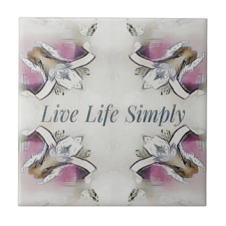 Pretty Soft Rose Colored Lifestyle Quote Tile