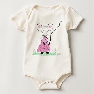 Pretty Souricette for the girls Baby Bodysuit