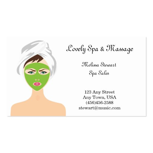 Pretty Spa and Facial Business Cards