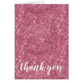Pretty Sparkle Pink Faux Glitter Card
