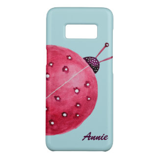 Pretty Spherical Abstract Watercolor Ladybug Name Case-Mate Samsung Galaxy S8 Case