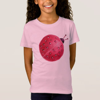 Pretty Spherical Abstract Watercolor Ladybug T-Shirt