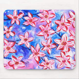 Pretty Spring Blossom Watercolour Mouse Pad