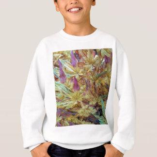 Pretty Spring Fall Leaf Combo Pattern Sweatshirt
