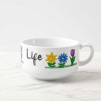 Pretty Spring Floral White Soup Bowls