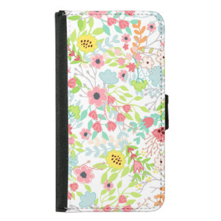 Pretty Spring Flowers Floral Pattern Samsung Galaxy S5 Wallet Case