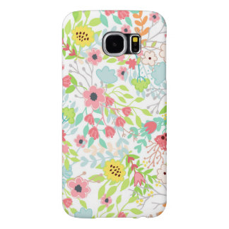 Pretty Spring Flowers Floral Pattern Samsung Galaxy S6 Cases