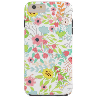 Pretty Spring Flowers Floral Pattern Tough iPhone 6 Plus Case