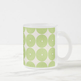 Pretty Spring Green Girly Circles Disks Pattern Coffee Mugs