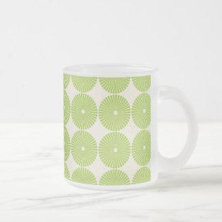 Pretty Spring Green Girly Circles Disks Pattern Coffee Mugs