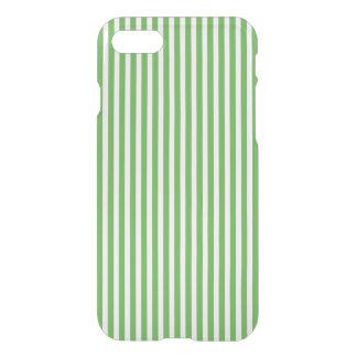 Pretty spring leaf green cabana stripe pattern iPhone 7 case