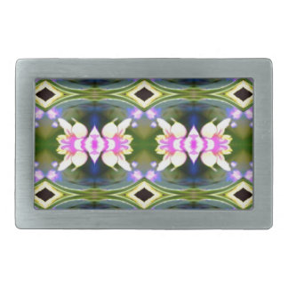 Pretty Spring Pink Green Pattern Belt Buckles