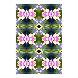Pretty Spring Pink Green Pattern Stationery