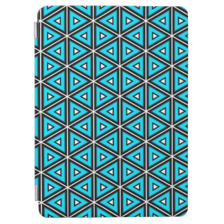 Pretty Square White, Black and Turquoise Pattern iPad Air Cover