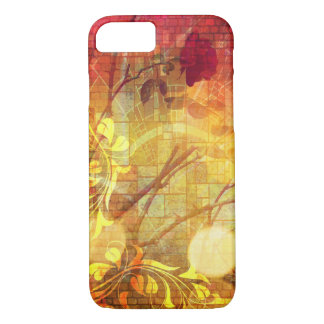 Pretty Stained Glass Rose Vine Colorful Design iPhone 7 Case