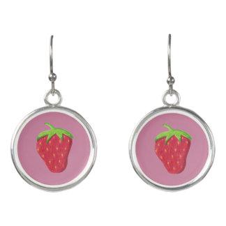 Pretty strawberry pink drop earrings