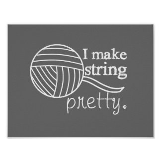 Pretty String/Yarn Custom Color Dark Poster