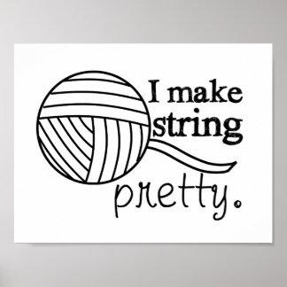 Pretty String/Yarn Custom Color Light Poster