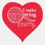 Pretty String/Yarn Custom Colour Dark Heart Sticker