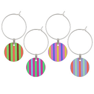Pretty stripes wine charm