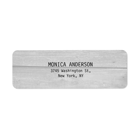 Pretty Stylish Grey Wood Plain Modern Return Address Label