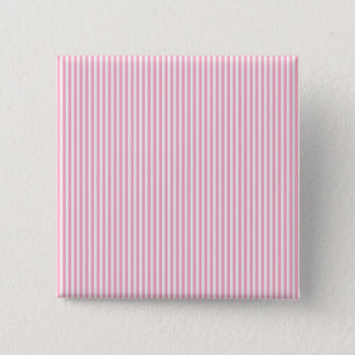 Pretty Summer Time Bubble Gum Pink Striped Pattern 15 Cm Square Badge