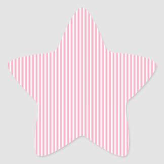 Pretty Summer Time Bubble Gum Pink Striped Pattern Star Stickers