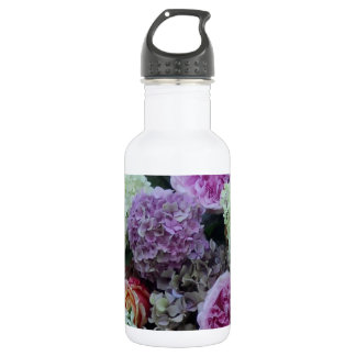 Pretty Summer Wedding Flowers Hydrangea Peony 532 Ml Water Bottle