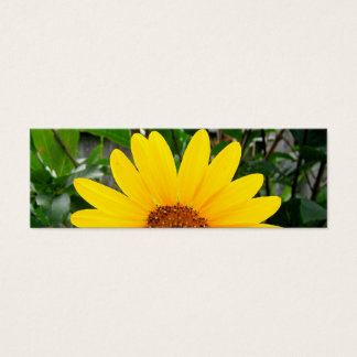 Pretty Sunflower Bookmark Mini Business Card
