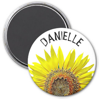 Pretty Sunflower Name Personalized Magnet
