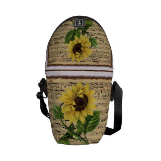 Pretty Sunflower On  Music Courier Bag