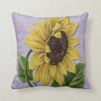 Pretty Sunflower On Sheet Music Cushion