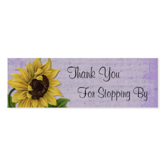 Pretty Sunflower On Sheet Music Pack Of Skinny Business Cards
