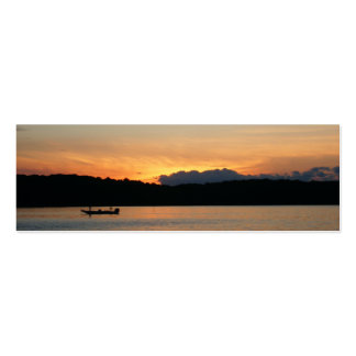 Pretty Sunset Bookmark Business Card Templates